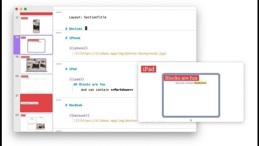 Slideas Beta for Mac - review, screenshots