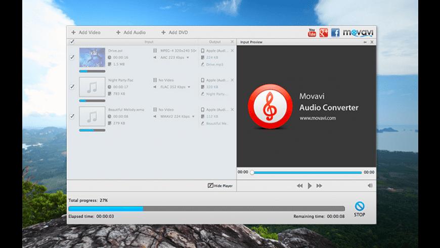 Movavi Audio Converter for Mac - review, screenshots
