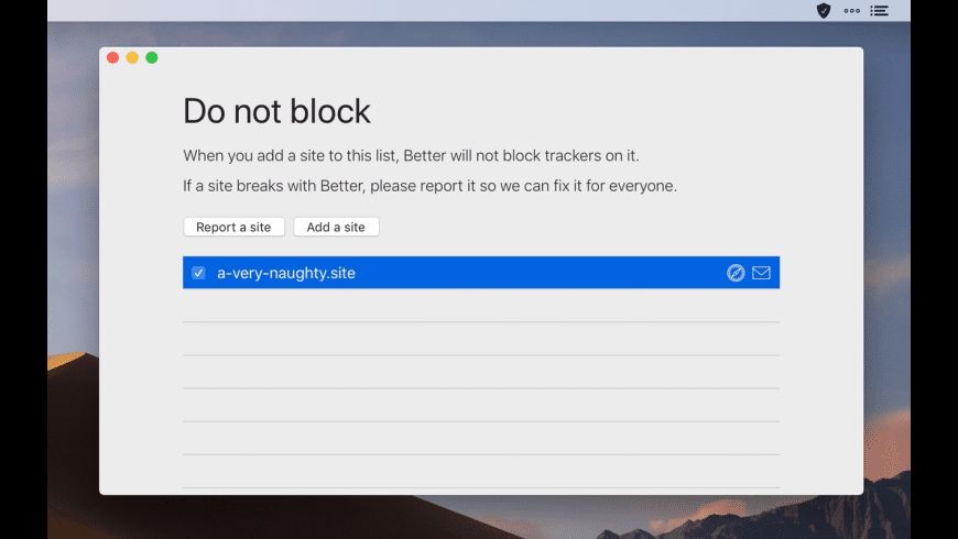 Better Blocker for Mac - review, screenshots
