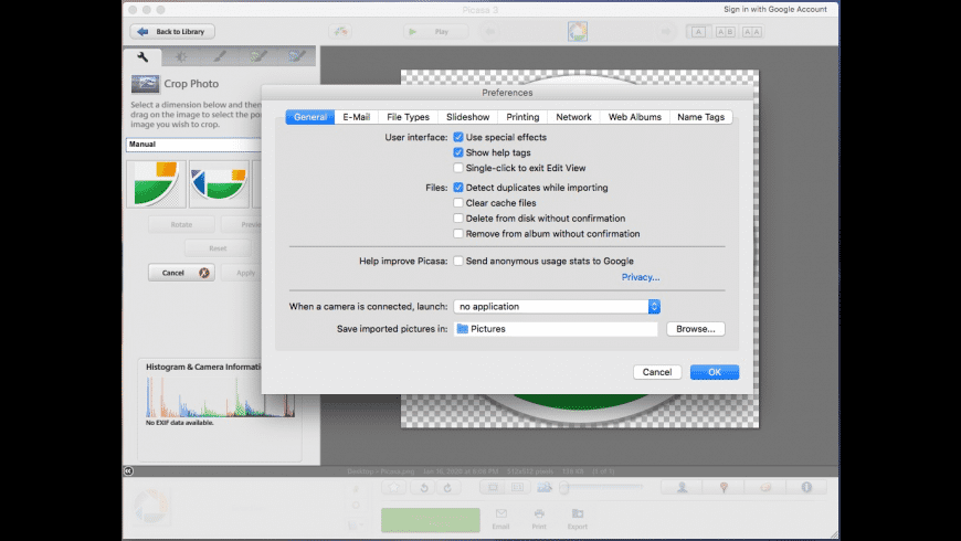 Picasa for Mac - review, screenshots