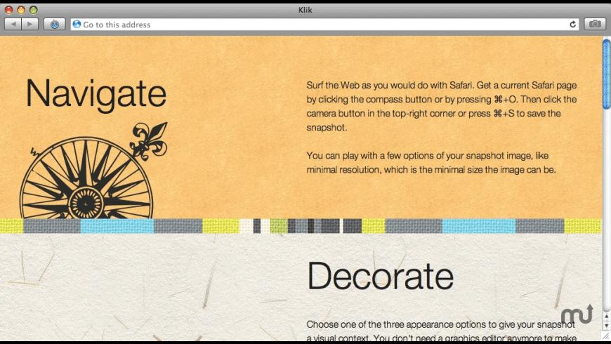 Klik for Mac - review, screenshots