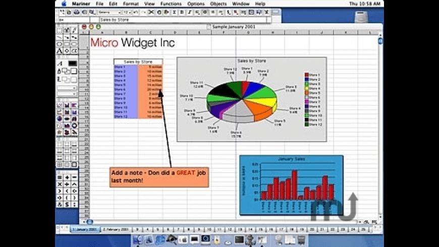 Mariner Calc for Mac - review, screenshots