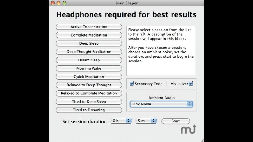 Brain Shaper for Mac - review, screenshots