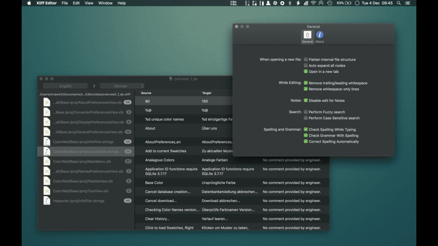 Xliff Editor for Mac - review, screenshots