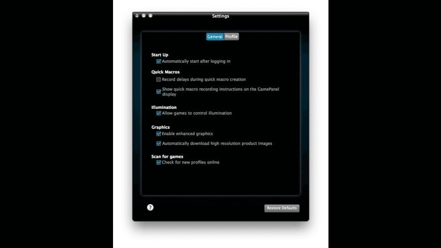 Logitech Gaming Software for Mac - review, screenshots