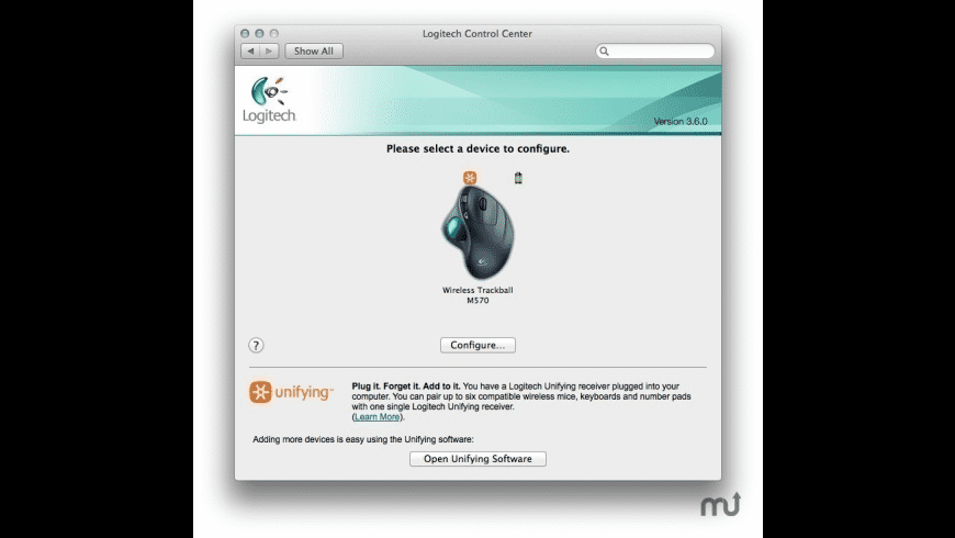 Logitech Control Center for Mac - review, screenshots