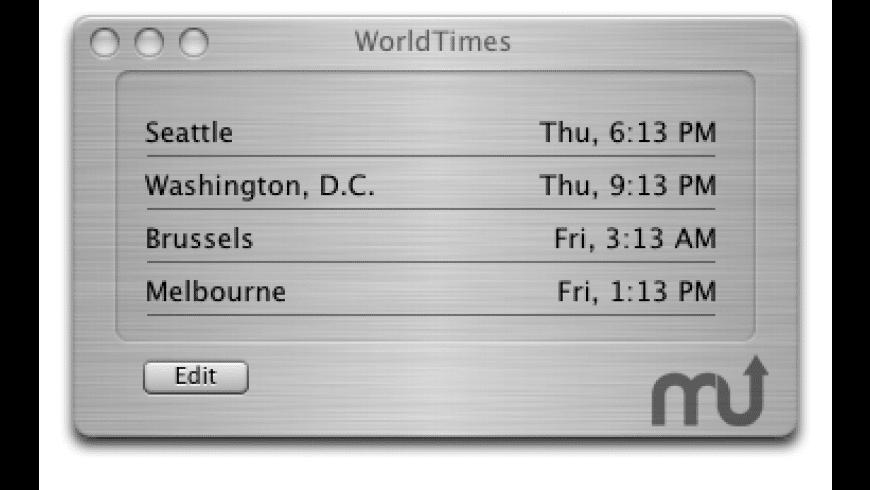 WorldTimes for Mac - review, screenshots