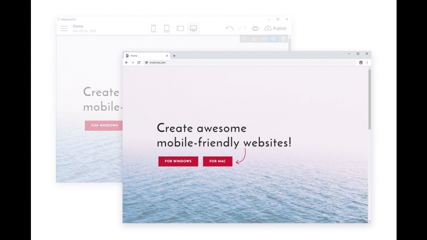 Mobirise for Mac - review, screenshots