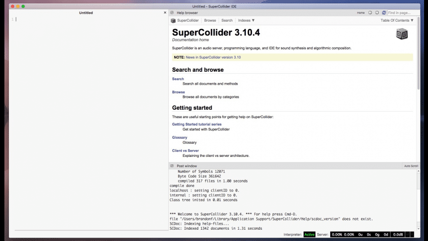 SuperCollider for Mac - review, screenshots