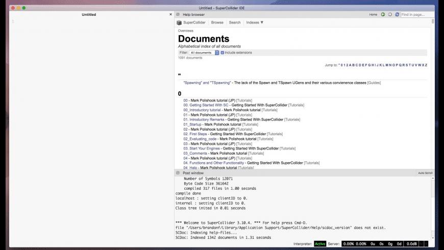SuperCollider for Mac - review, screenshots