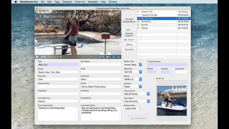 MetaDoctor Pro for Mac - review, screenshots