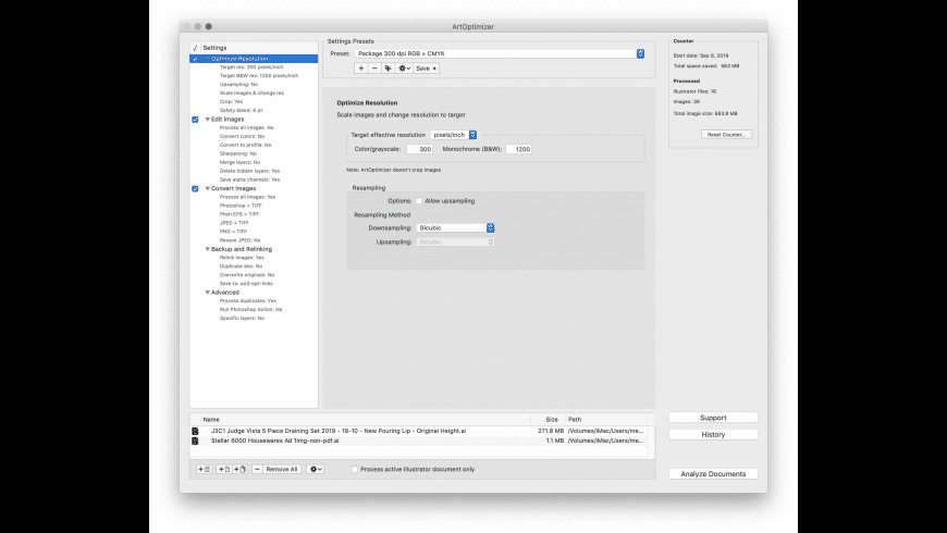 ArtOptimizer for Mac - review, screenshots