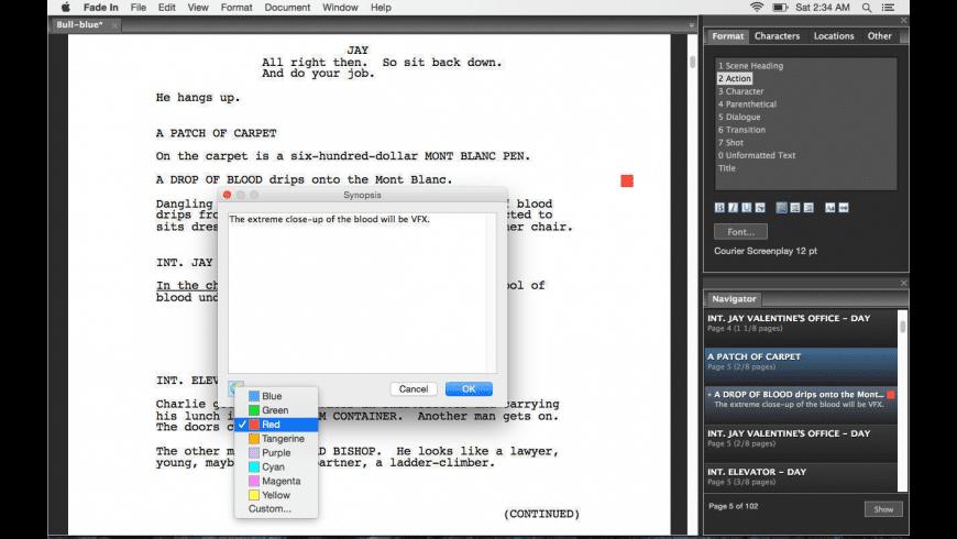 Fade In for Mac - review, screenshots