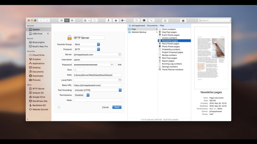 ForkLift for Mac - review, screenshots