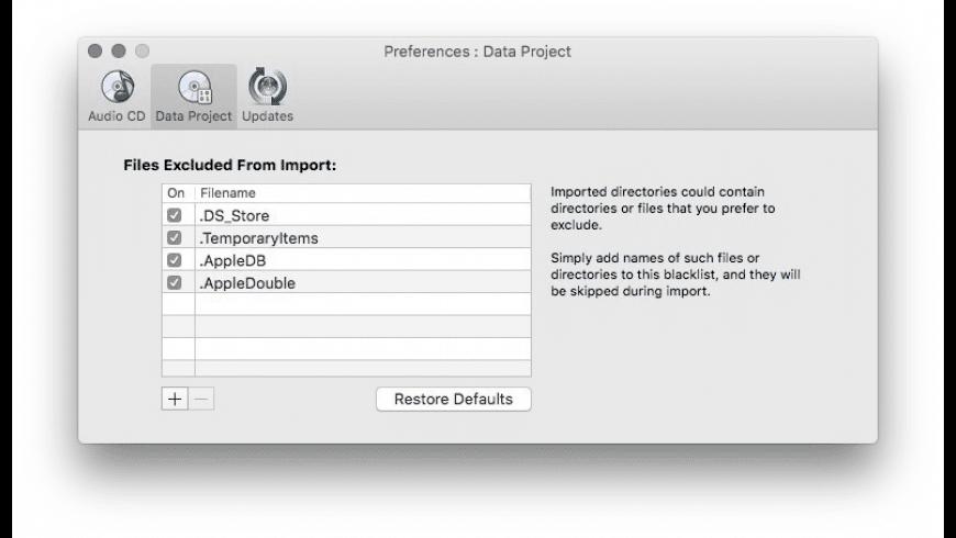 SimplyBurns for Mac - review, screenshots