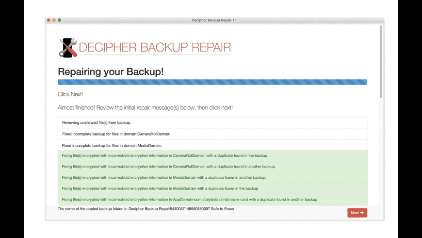 Decipher Backup Repair for Mac - review, screenshots