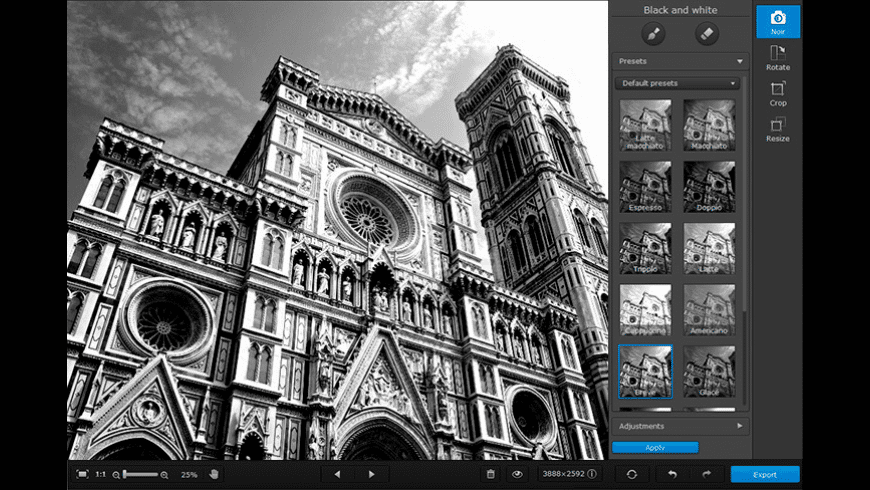 Movavi Photo Noir for Mac - review, screenshots