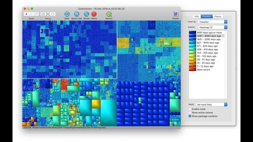 GrandPerspective for Mac - review, screenshots