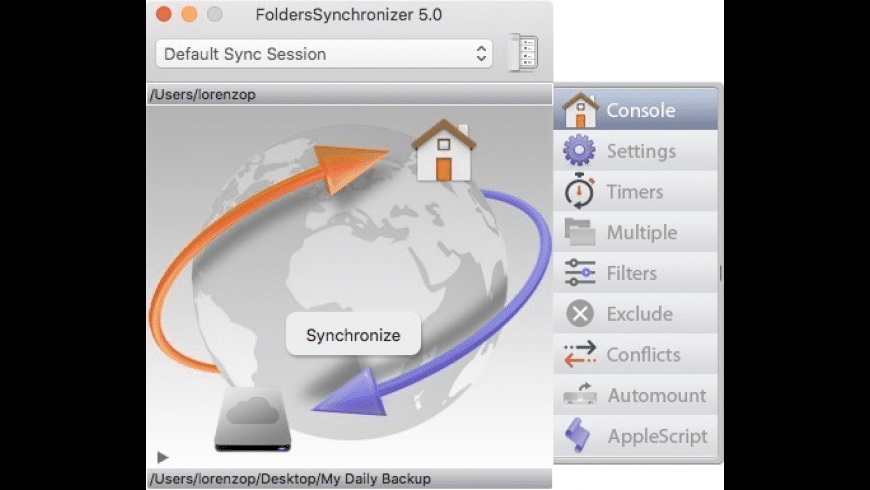 FoldersSynchronizer for Mac - review, screenshots