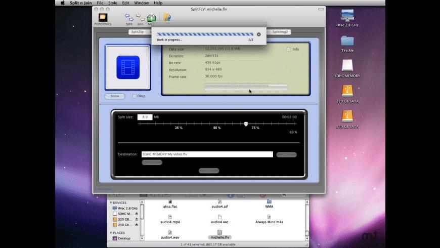 Split n Join for Mac - review, screenshots