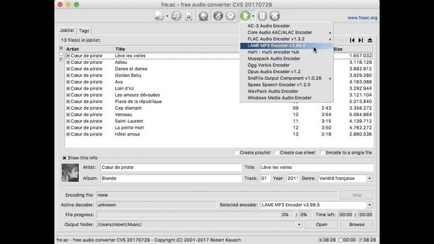 freac for Mac - review, screenshots