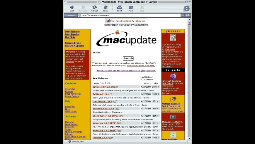 Internet Explorer for Mac - review, screenshots