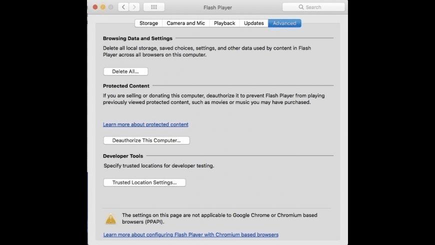 Adobe Pepper Flash Player for Mac - review, screenshots