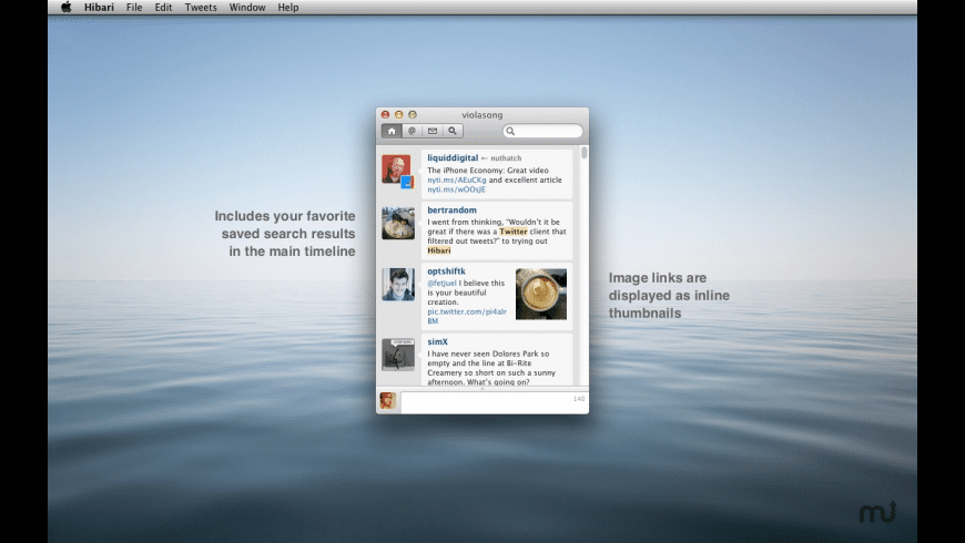 Hibari for Mac - review, screenshots