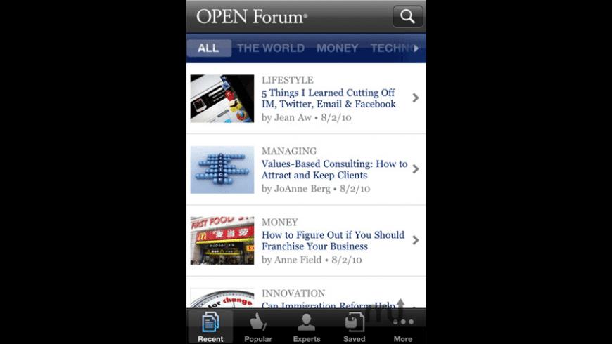 OPEN Forum for Mac - review, screenshots