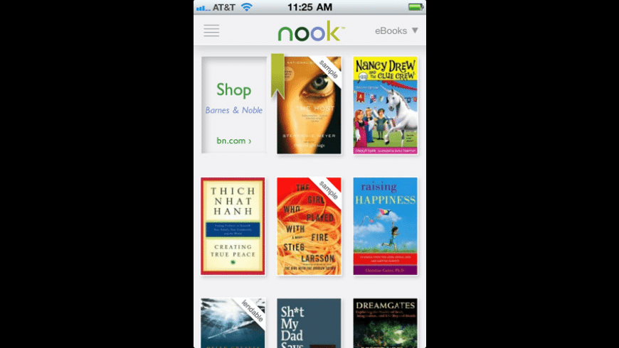 Barnes & Noble NOOK for iPhone for Mac - review, screenshots