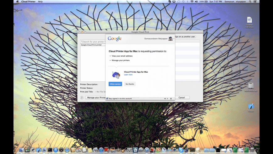 Cloud Printer for Mac - review, screenshots