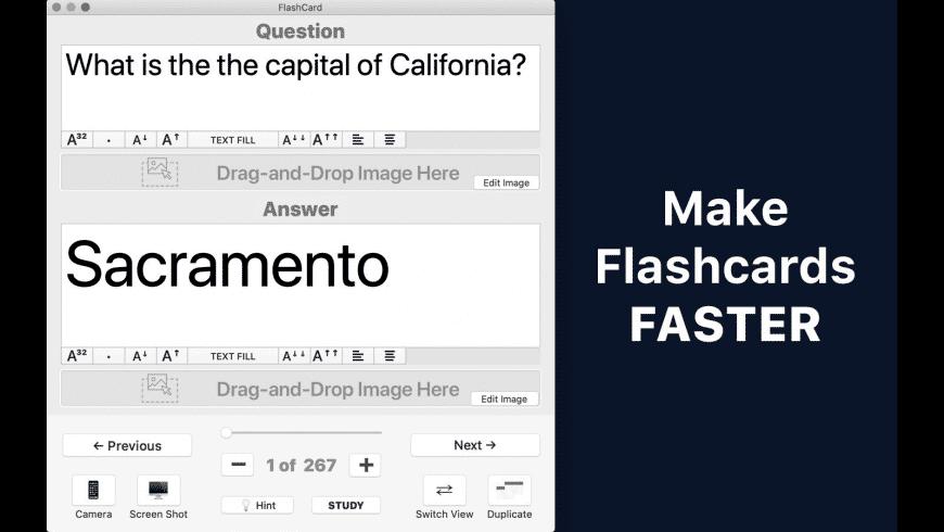 Flashcard Max for Mac - review, screenshots