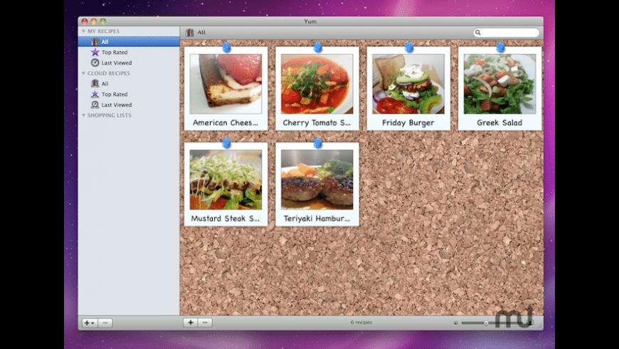Yum for Mac - review, screenshots