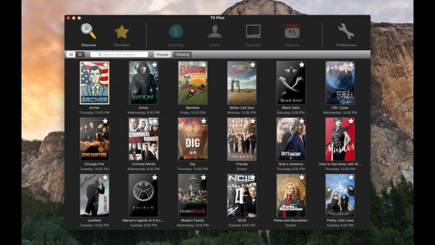 TV Pilot for Mac - review, screenshots