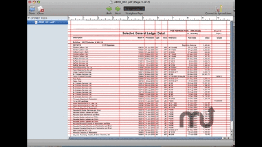 PDF to Spreadsheet Pro for Mac - review, screenshots