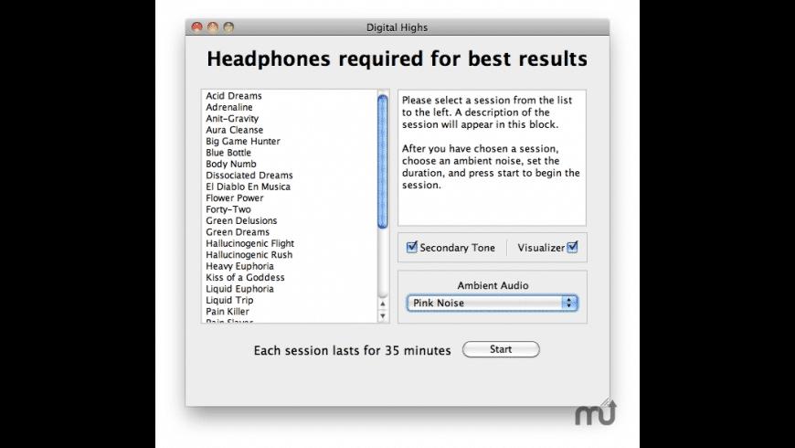 Digital Highs  for Mac - review, screenshots