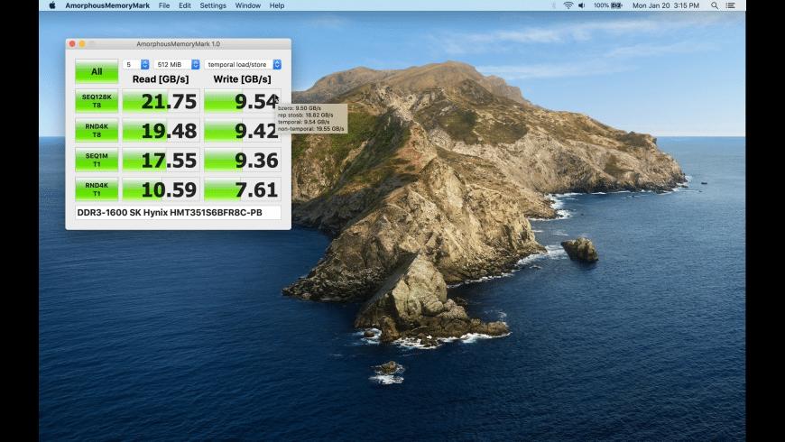 AmorphousMemoryMark for Mac - review, screenshots