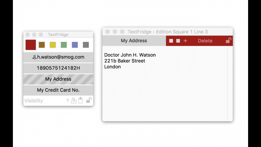 TextFridge for Mac - review, screenshots
