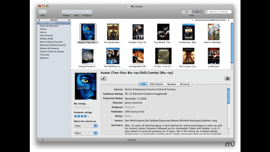 Wondershare Media Library for Mac - review, screenshots