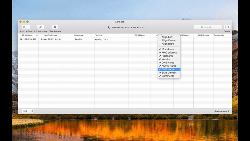 LanScan for Mac - review, screenshots