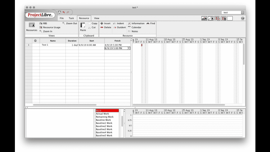 ProjectLibre for Mac - review, screenshots