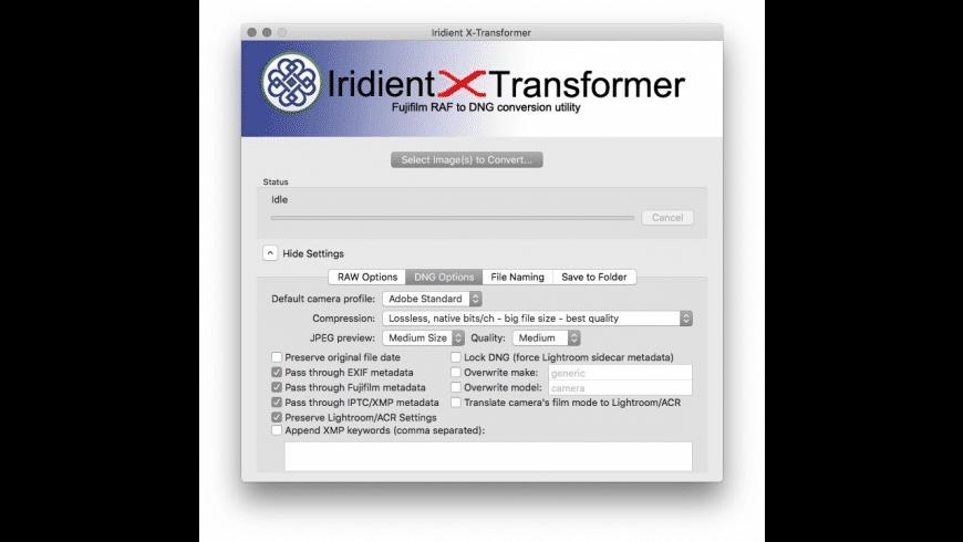 Iridient X-Transformer for Mac - review, screenshots