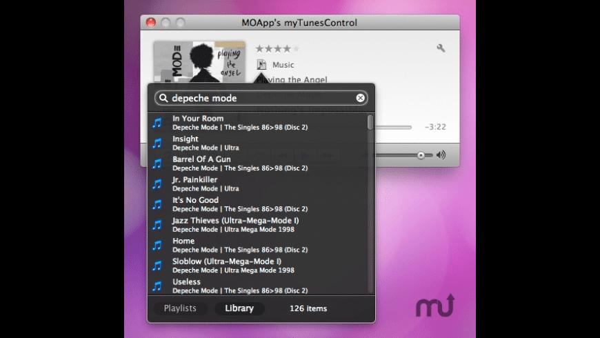 myTunesControl for Mac - review, screenshots