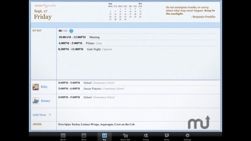 momAgenda for Mac - review, screenshots