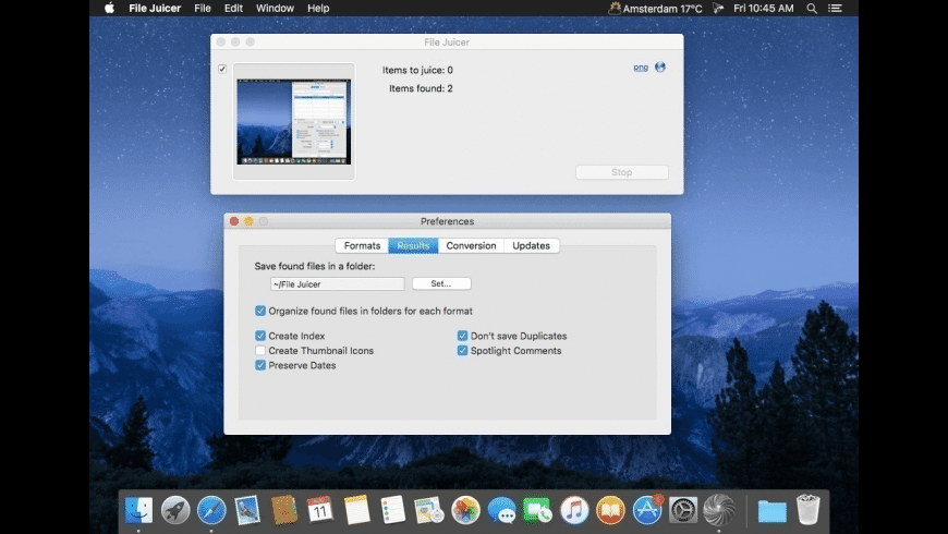 File Juicer for Mac - review, screenshots