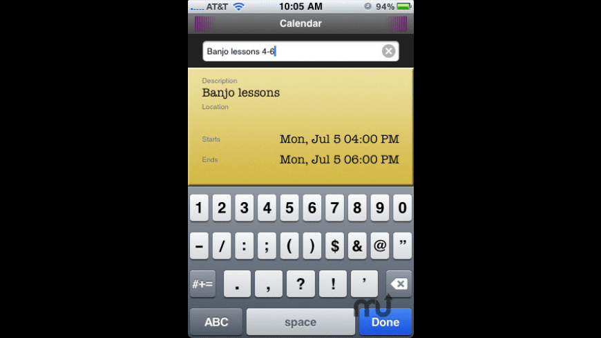 QuickCal Mobile for Mac - review, screenshots
