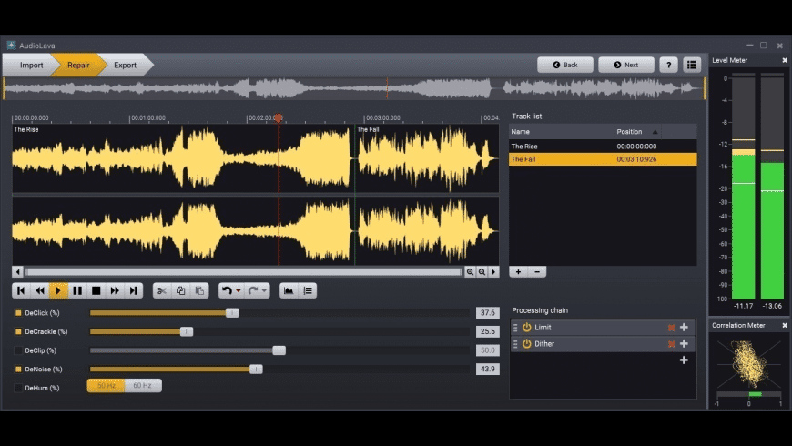 AudioLava for Mac - review, screenshots