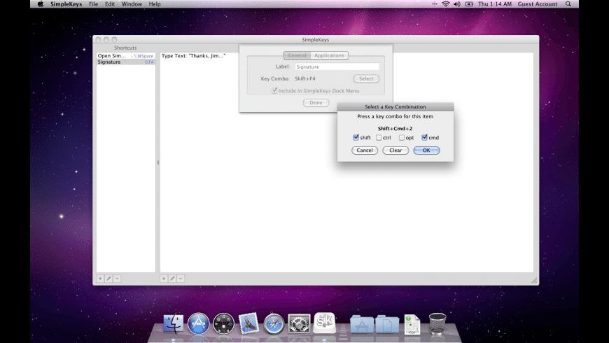 SimpleKeys for Mac - review, screenshots