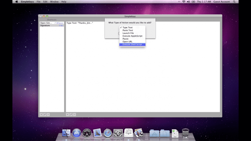 SimpleKeys for Mac - review, screenshots