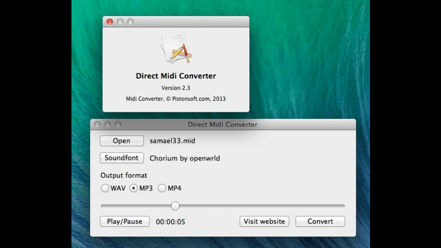 Midi Converter for Mac - review, screenshots